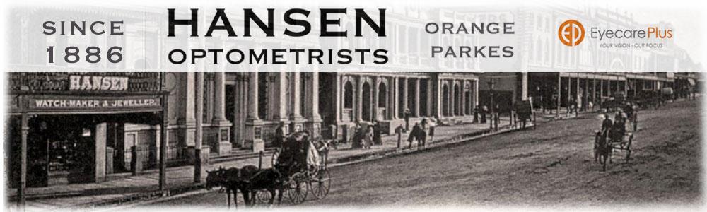 Hansen Optometrists Eyecare Plus Orange